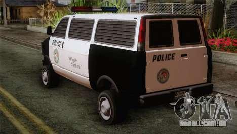 GTA 5 Police Transporter para GTA San Andreas esquerda vista