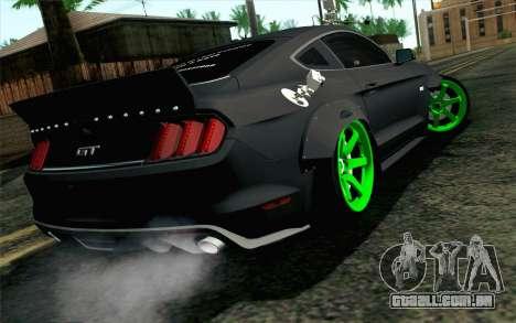 Ford Mustang 2015 Monster Edition para GTA San Andreas esquerda vista