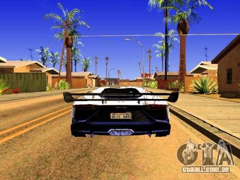 Lamborghini Aventador Novitec Torado para GTA San Andreas esquerda vista