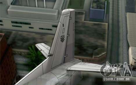 AN-32B Croatian Air Force Closed para GTA San Andreas traseira esquerda vista