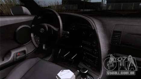 Toyota Supra US-Spec (JZA80) 1993 HQLM para GTA San Andreas vista direita
