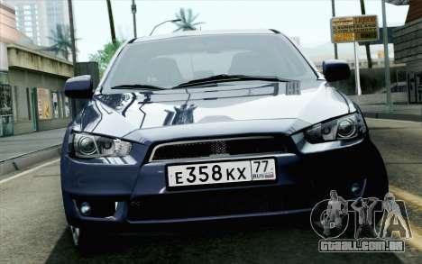 Mitsubishi Lancer X para GTA San Andreas vista traseira
