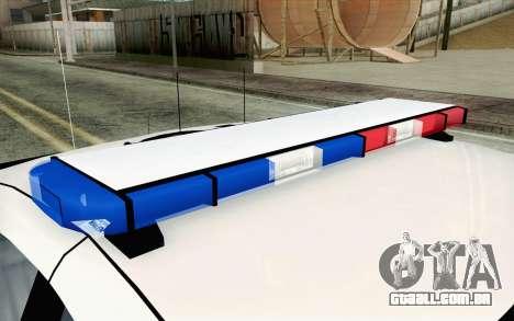 Chevy Caprice SAHP SAPD Highway Patrol v1 para GTA San Andreas traseira esquerda vista