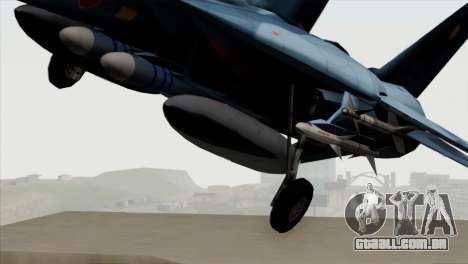 F-14 Japan Air Self Defense Force para GTA San Andreas vista traseira