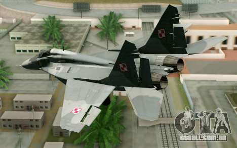 MIG-29 Polish Air Force para GTA San Andreas esquerda vista