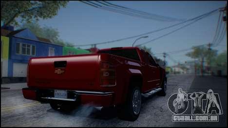 Chevrolet Silverado 1500 HD Stock para GTA San Andreas vista direita