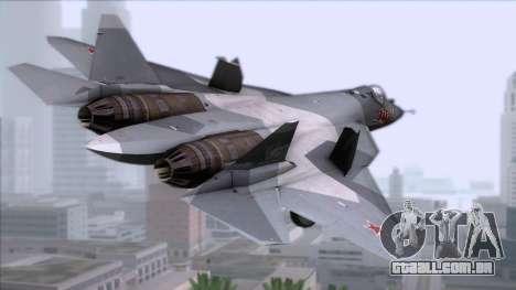 Sukhoi T-50 PAK FA Akula para GTA San Andreas esquerda vista