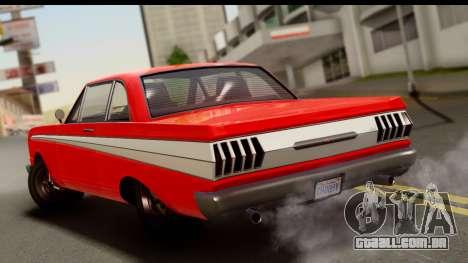 GTA 5 Vapid Blade v2 para GTA San Andreas esquerda vista
