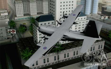 C-130H Hercules RAF para GTA San Andreas esquerda vista