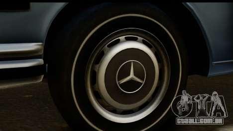 Mercedes-Benz 300 SEL 6.3 (W109) 1967 HQLM para GTA San Andreas vista traseira