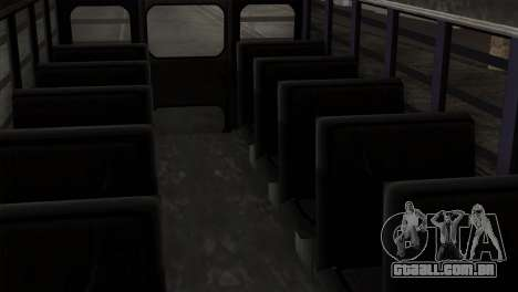 GTA 4 TLaD Prison Bus para GTA San Andreas vista traseira