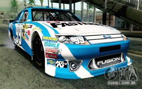 NASCAR Ford Fusion 2012 Plate Track para GTA San Andreas