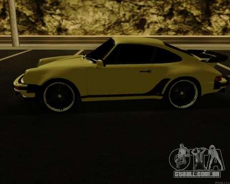 Porsche 911 Turbo para GTA San Andreas traseira esquerda vista
