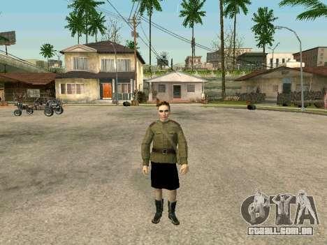 O sargento militar de campo medicina para GTA San Andreas terceira tela
