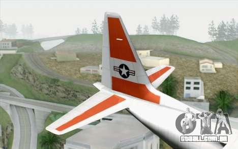 C-130H Hercules Coast Guard para GTA San Andreas traseira esquerda vista