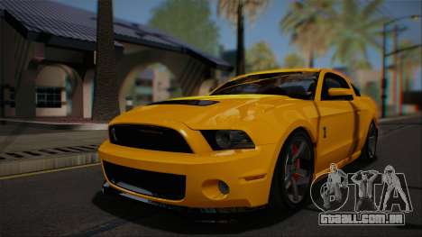 Ford Shelby GT500 2013 Vossen version para vista lateral GTA San Andreas