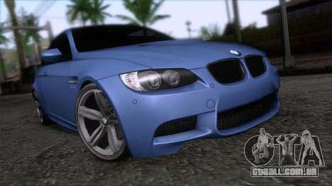 BMW M3 E92 para GTA San Andreas