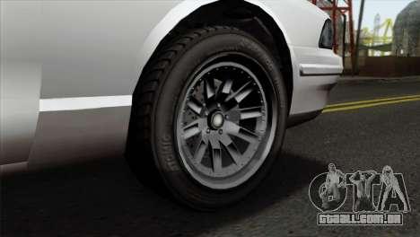 GTA 5 Vapid Stanier II SA Style para GTA San Andreas traseira esquerda vista
