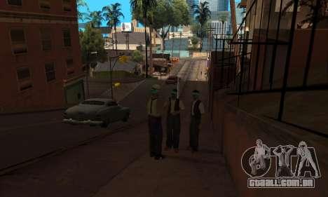 Alteração de áreas de gangues e suas armas v1.1 para GTA San Andreas por diante tela