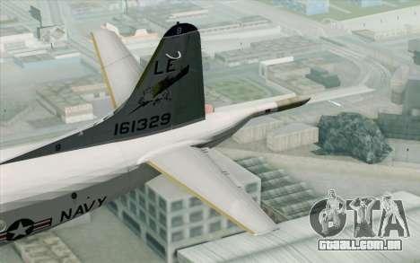 Lockheed P-3 Orion VP-11 US Navy para GTA San Andreas traseira esquerda vista
