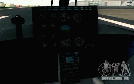 NFS HP 2010 Police Helicopter LVL 2 para GTA San Andreas vista traseira