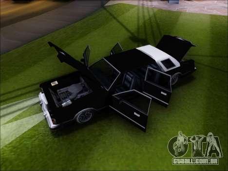 New Virgo para GTA San Andreas vista traseira