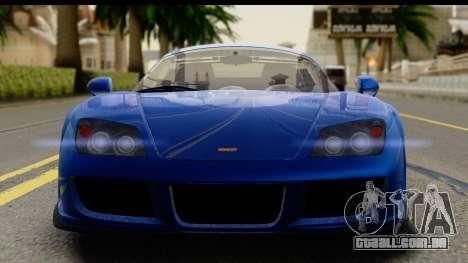 Noble M600 2010 FIV АПП para GTA San Andreas traseira esquerda vista