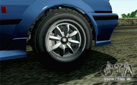 GTA 5 Karin Futo SA Mobile para GTA San Andreas traseira esquerda vista