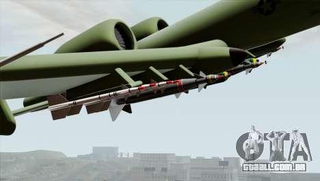 A-10 Warthog Shark Attack para GTA San Andreas vista direita