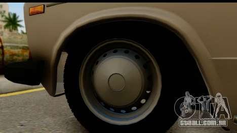 ВАЗ 2106 Baixa Clássico para GTA San Andreas vista traseira
