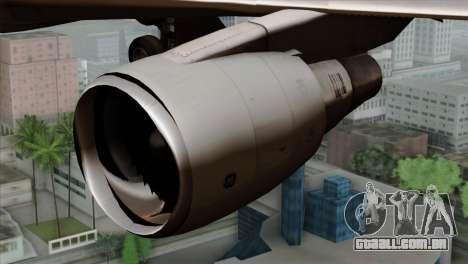 Boeing E-767 Japan Air Self-Defense Force EoJ para GTA San Andreas vista traseira