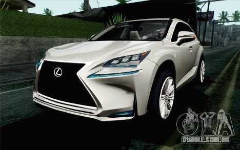Lexus NX 200T v5 para GTA San Andreas