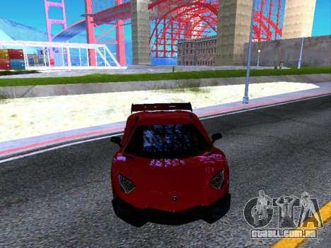Lamborghini Aventador Novitec Torado para GTA San Andreas vista interior
