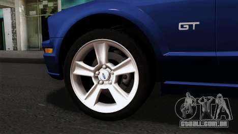 Ford Mustang GT PJ Wheels 1 para GTA San Andreas traseira esquerda vista