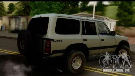 Toyota Land Cruiser 80 v1.0 para GTA San Andreas esquerda vista