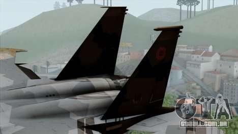 F-15E Yellow Squadron para GTA San Andreas traseira esquerda vista