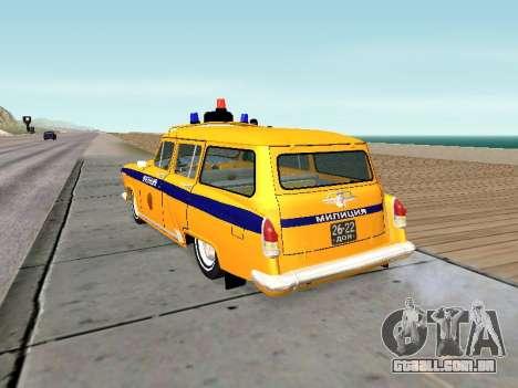 GÁS 22 Soviética polícia para GTA San Andreas traseira esquerda vista