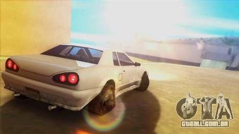 Elegia nos trilhos para GTA San Andreas esquerda vista