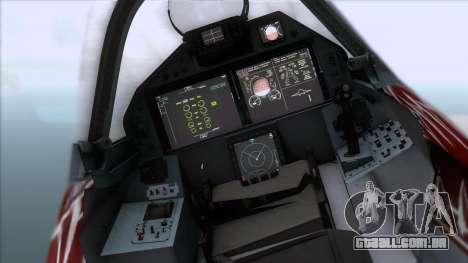 Sukhoi T-50 PAK FA Akula with Trinity para GTA San Andreas vista direita