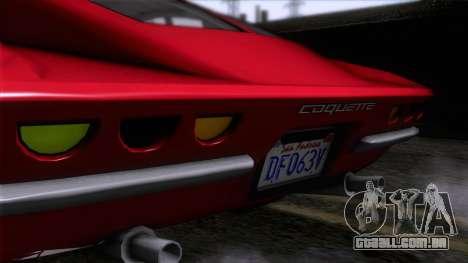 GTA 5 Invetero Coquette Classic HT para GTA San Andreas vista traseira