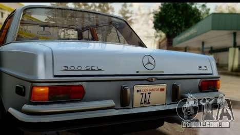 Mercedes-Benz 300 SEL 6.3 (W109) 1967 HQLM para GTA San Andreas vista direita