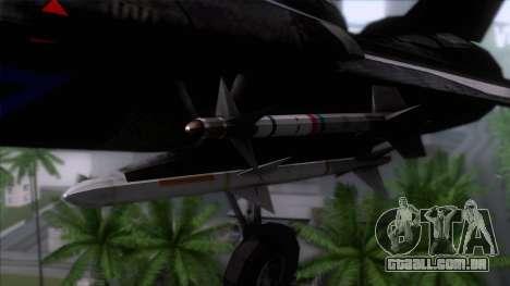 F-14 Neon Blue Macross Frontier para GTA San Andreas vista traseira