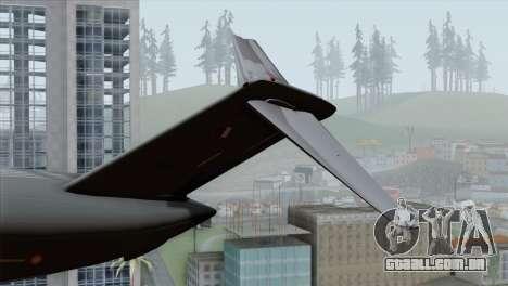 C-17A Globemaster III QAF para GTA San Andreas traseira esquerda vista