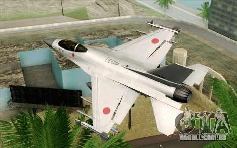 Mitsubishi F-2 Original JASDF Skin para GTA San Andreas esquerda vista