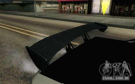 Elegy Modification para GTA San Andreas vista interior