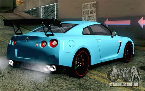 Nissan GT-R35 v1 para GTA San Andreas esquerda vista