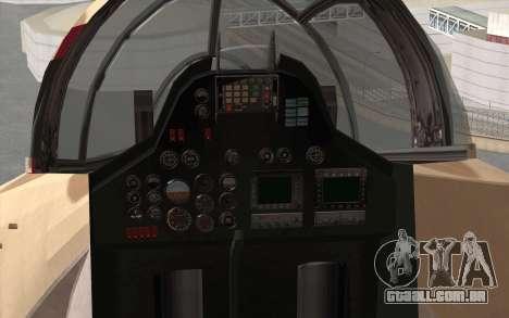 Savage GTA 5 v1.2 para GTA San Andreas vista traseira