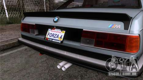 BMW M635 CSi 1984 Stock para GTA San Andreas vista traseira