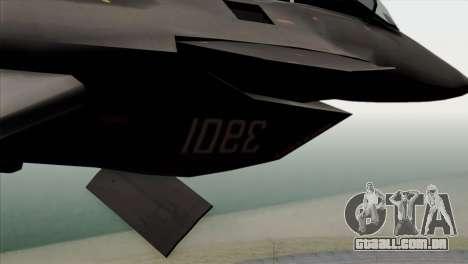MIG 1.44 China Air Force para GTA San Andreas vista traseira