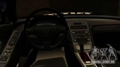 Honda NSX Street Killer para GTA San Andreas vista direita